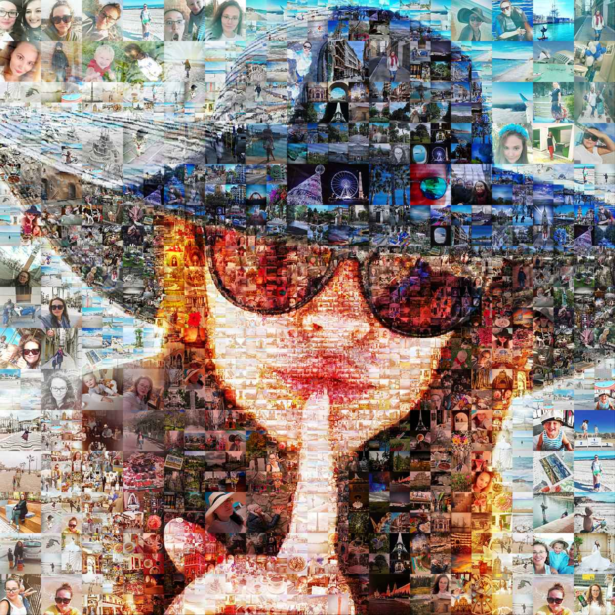 the best service for creating photomosaic collages from your photos